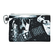 Street Dogs Canvas Cosmetic Bag (large) by Valentinaart