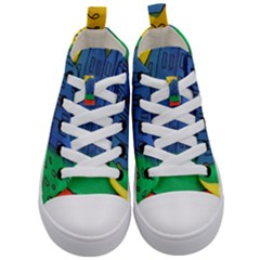 City Kid s Mid Top Canvas Sneakers