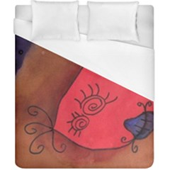 Red Worm Duvet Cover (california King Size) by snowwhitegirl