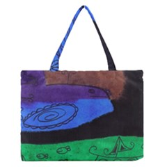 Purple Whale Zipper Medium Tote Bag by snowwhitegirl