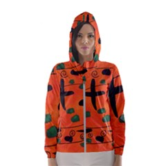 Egg Amongst Crosses Hooded Wind Breaker (women)