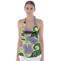 Leaves Babydoll Tankini Top