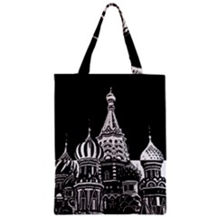 Moscow Zipper Classic Tote Bag by Valentinaart