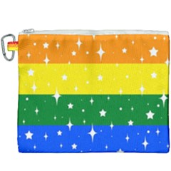 Sparkly Rainbow Flag Canvas Cosmetic Bag (xxxl) by Valentinaart
