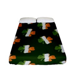 Irish Clover Fitted Sheet (full/ Double Size) by Valentinaart