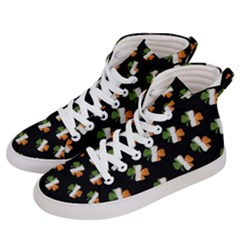 Irish Clover Men s Hi Top Skate Sneakers by Valentinaart
