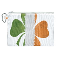 Irish Clover Canvas Cosmetic Bag (xl) by Valentinaart