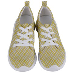 Woven2 White Marble & Yellow Watercolor Women s Lightweight Sports Shoes