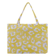 Skin5 White Marble & Yellow Watercolor (r) Medium Tote Bag by trendistuff