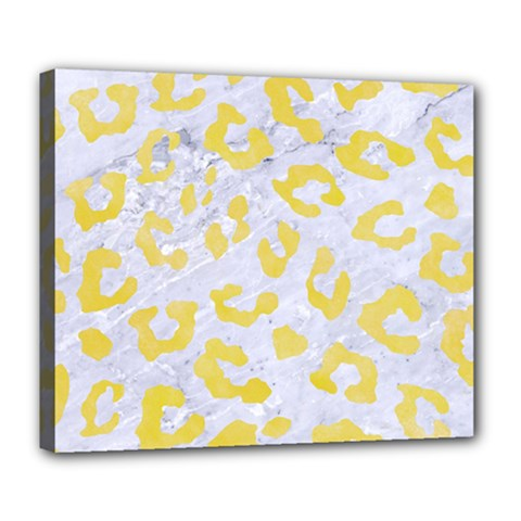 Skin5 White Marble & Yellow Watercolor Deluxe Canvas 24  X 20   by trendistuff