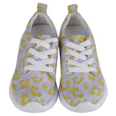 Skin5 White Marble & Yellow Watercolor Kids  Lightweight Sports Shoes