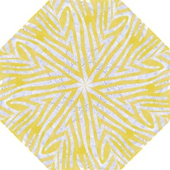 Skin4 White Marble & Yellow Watercolor (r) Golf Umbrellas by trendistuff