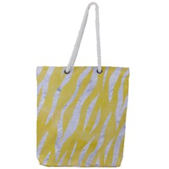 Skin3 White Marble & Yellow Watercolor Full Print Rope Handle Tote (large)