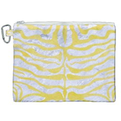 Skin2 White Marble & Yellow Watercolor (r) Canvas Cosmetic Bag (xxl) by trendistuff