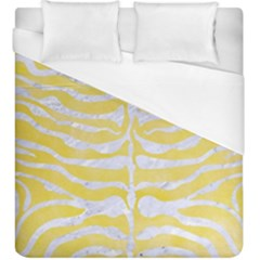 Skin2 White Marble & Yellow Watercolor Duvet Cover (king Size) by trendistuff