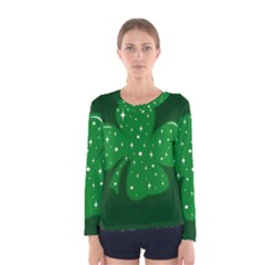 Sparkly Clover Women s Long Sleeve Tee