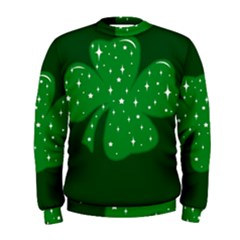 Sparkly Clover Men s Sweatshirt