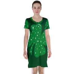 Sparkly Clover Short Sleeve Nightdress
