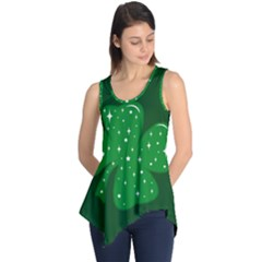 Sparkly Clover Sleeveless Tunic by Valentinaart