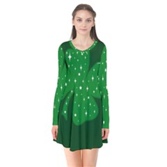 Sparkly Clover Flare Dress