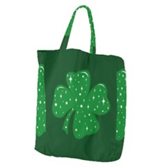 Sparkly Clover Giant Grocery Zipper Tote by Valentinaart