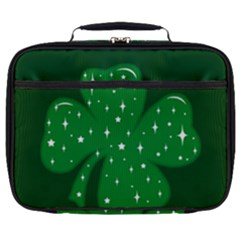 Sparkly Clover Full Print Lunch Bag by Valentinaart