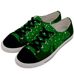 Sparkly Clover Men s Low Top Canvas Sneakers by Valentinaart