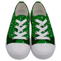 Sparkly Clover Kids  Low Top Canvas Sneakers
