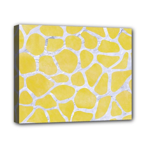 Skin1 White Marble & Yellow Watercolor (r) Canvas 10  X 8  by trendistuff