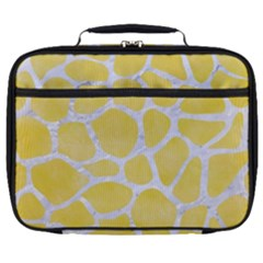 Skin1 White Marble & Yellow Watercolor (r) Full Print Lunch Bag by trendistuff