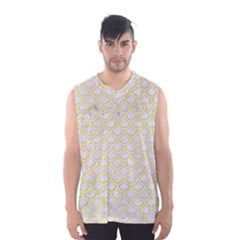 Scales2 White Marble & Yellow Watercolor (r)scales2 White Marble & Yellow Watercolor (r) Men s Basketball Tank Top by trendistuff