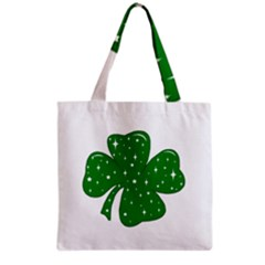 Sparkly Clover Grocery Tote Bag