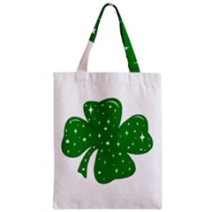 Sparkly Clover Zipper Classic Tote Bag by Valentinaart