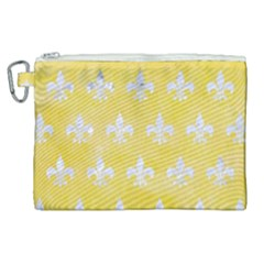Royal1 White Marble & Yellow Watercolor (r) Canvas Cosmetic Bag (xl) by trendistuff