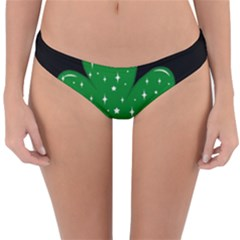 Sparkly Clover Reversible Hipster Bikini Bottoms by Valentinaart