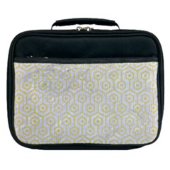 Hexagon1 White Marble & Yellow Watercolor (r) Lunch Bag by trendistuff