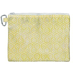 Hexagon1 White Marble & Yellow Watercolor Canvas Cosmetic Bag (xxl) by trendistuff
