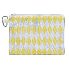 Diamond1 White Marble & Yellow Watercolor Canvas Cosmetic Bag (xl) by trendistuff