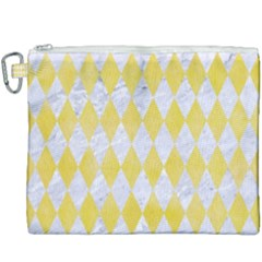 Diamond1 White Marble & Yellow Watercolor Canvas Cosmetic Bag (xxxl) by trendistuff
