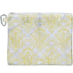 Damask1 White Marble & Yellow Watercolor (r) Canvas Cosmetic Bag (xxxl)