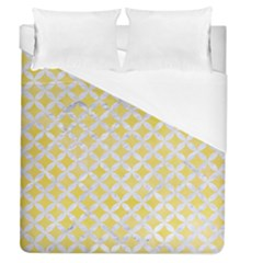 Circles3 White Marble & Yellow Watercolor Duvet Cover (queen Size)