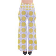 Circles1 White Marble & Yellow Watercolor (r) Pants by trendistuff