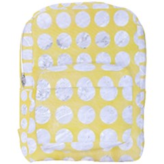 Circles1 White Marble & Yellow Watercolor Full Print Backpack by trendistuff