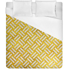 Woven2 White Marble & Yellow Marble Duvet Cover (california King Size) by trendistuff