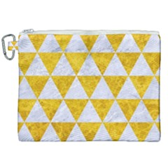 Triangle3 White Marble & Yellow Marble Canvas Cosmetic Bag (xxl) by trendistuff