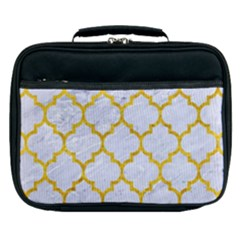 Tile1 White Marble & Yellow Marble (r) Lunch Bag by trendistuff