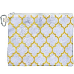 Tile1 White Marble & Yellow Marble (r) Canvas Cosmetic Bag (xxxl)