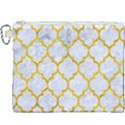TILE1 WHITE MARBLE & YELLOW MARBLE (R) Canvas Cosmetic Bag (XXXL) View1