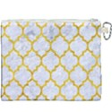 TILE1 WHITE MARBLE & YELLOW MARBLE (R) Canvas Cosmetic Bag (XXXL) View2