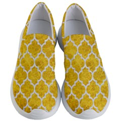 Tile1 White Marble & Yellow Marble Women s Lightweight Slip Ons by trendistuff